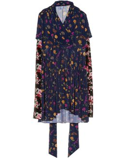 Multi Floral-print Long-sleeved Dress