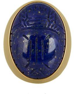 Lapis Lazuli & Yellow-gold Ring