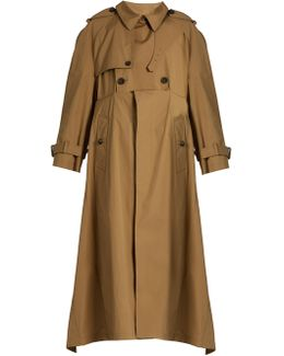 Double-breasted Cotton-gabardine Trench Coat