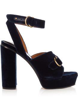Kingsley Velvet Sandals