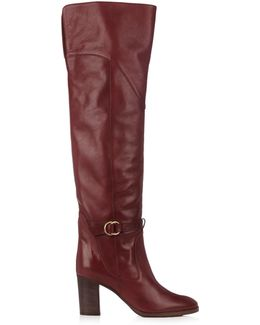 Lenny Leather Knee-high Boots