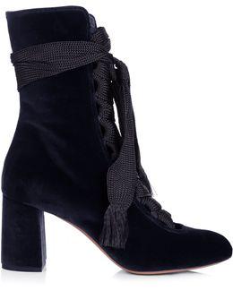 Harper Velvet Ankle Boots