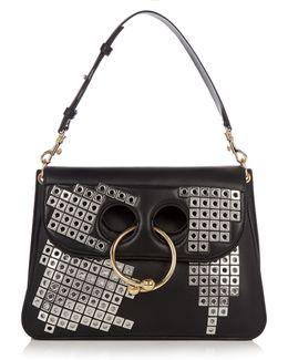 Pierce Medium Embellished Leather Shoulder Bag