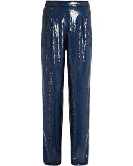 Sequin-embellished Wide-leg Trousers