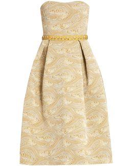 Nevis Strapless Jacquard Dress