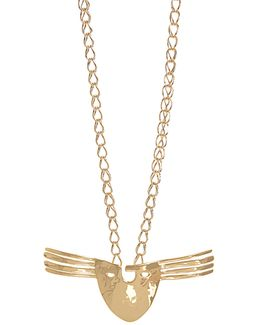 Melina Mask Gold-plated Necklace