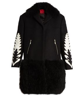 Katie Shearling-trim Wool And Cashmere-blend Coat