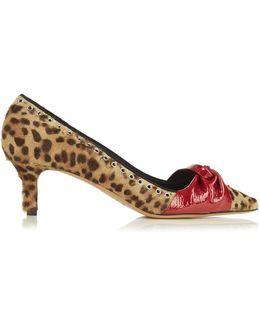 Panely Leopard-print Calf-hair Pumps