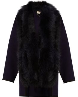 Feuillantine Detachable-fur Coat