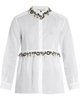 Freret Embroidered Cotton-organdie Shirt