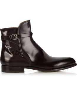 Polished-leather Ankle Boots