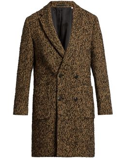 Double-breasted Wool-blend Fleck Coat