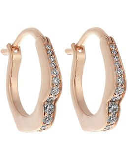 Omg! Diamond & Rose-gold Earrings