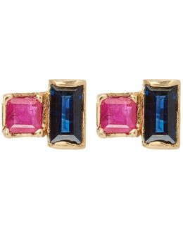 Ruby & Sapphire Earrings
