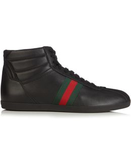 Bambi High-top Leather Trainers