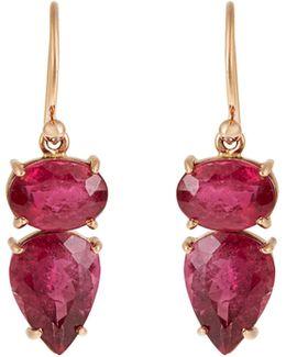 Tourmaline & Rose-gold Earrings