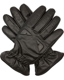 Bag Bugs-embossed Leather Gloves