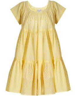 Paola Fil Coupé Tiered Silk-gauze Dress