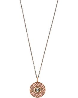 Diamond, Sapphire & Pink-gold Necklace