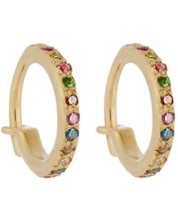 Diamond, Semi-precious Stone & Gold Earrings