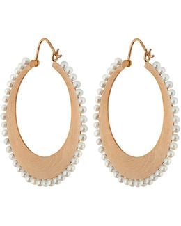 Akoya Pearl & Rose-gold Earrings
