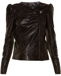 Connie Laser-cut Leather Jacket