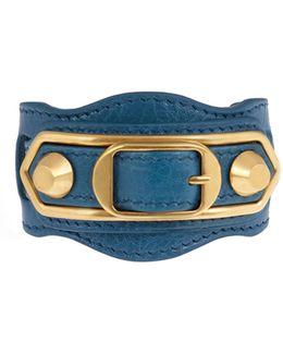 Classic Metallic Edge Leather Bracelet