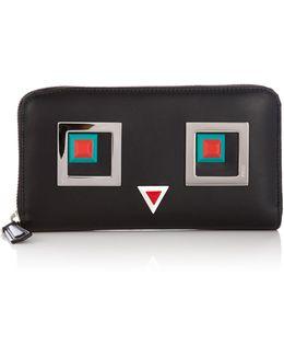 Hypnoteyes Zip-around Leather Wallet