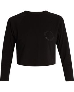 Nikko Logo-print Cotton Cropped Sweatshirt