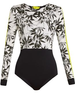 Bamboo-print Performance Paddle Suit