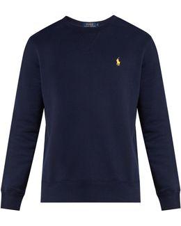 Logo-embroidered Crew-neck Cotton-blend Sweatshirt