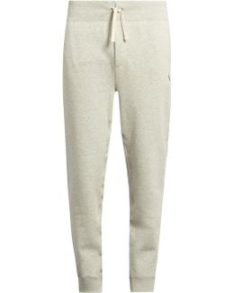 Drawstring-waist Cotton-blend Track Pants