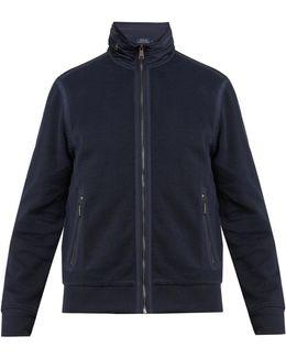 Hybrid Contrast-collar Piqué Jacket
