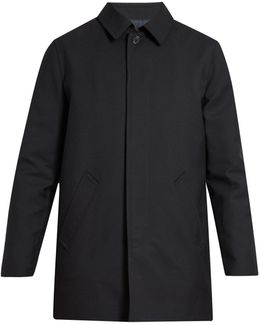 Preston Single-breasted Wool Overcoat