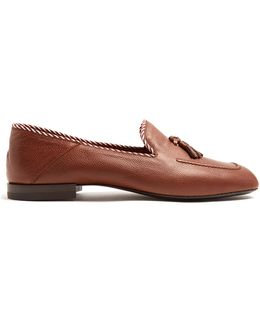 Valentin Grained-leather Loafers
