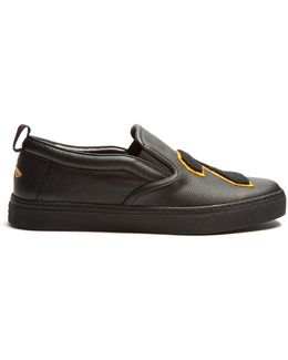 Hebron 25 Leather Slip-on Trainers