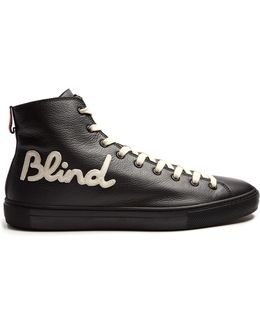 Blind For Love High-top Leather Trainers