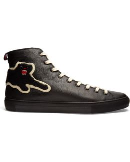 Panther High-top Leather Trainers