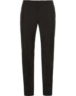 Contrast-stripe Wool-blend Tuxedo Trousers