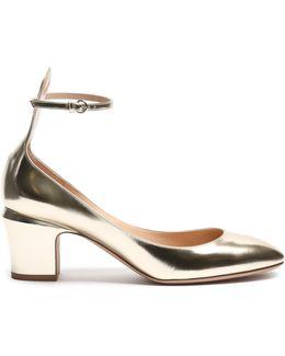 Tan-go Block-heel Leather Pumps
