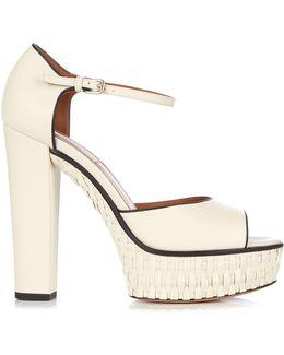 Baracoa Wicker Platform Sandals
