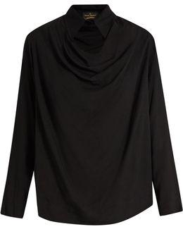 Tondo Cowl-neck Draped Top