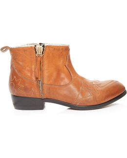 Zanja Double-zip Leather Ankle Boots