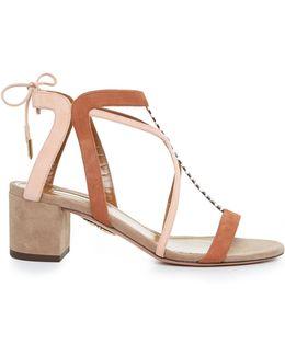 Fiji Block-heel Suede Sandals