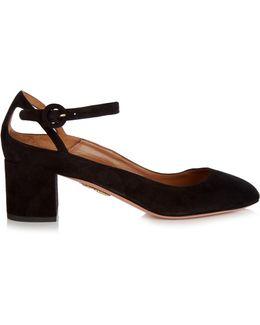 Sweet Thing Suede Block-heel Pumps