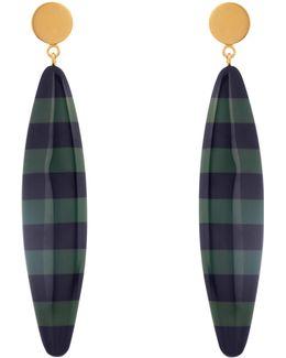 Striped Long Drop-earrings