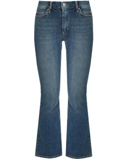 Marty High-rise Flared Cropped Jeans