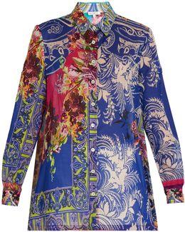 Floral Paisley-print Cotton Shirt