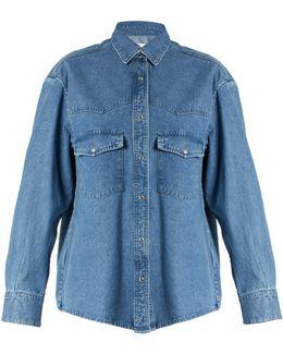 Western-yoke Denim Shirt