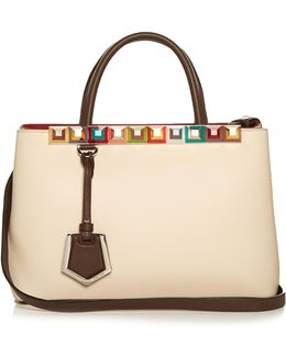 2jours Embellished Leather Tote